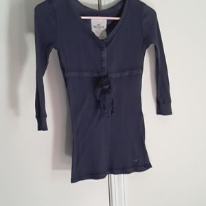 Hollister dark blue blouse.